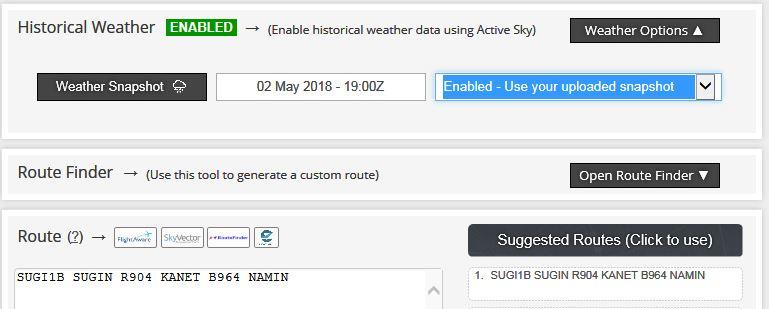 Simbrief теперь поддерживает историческую погоду! • simFlight Россия
