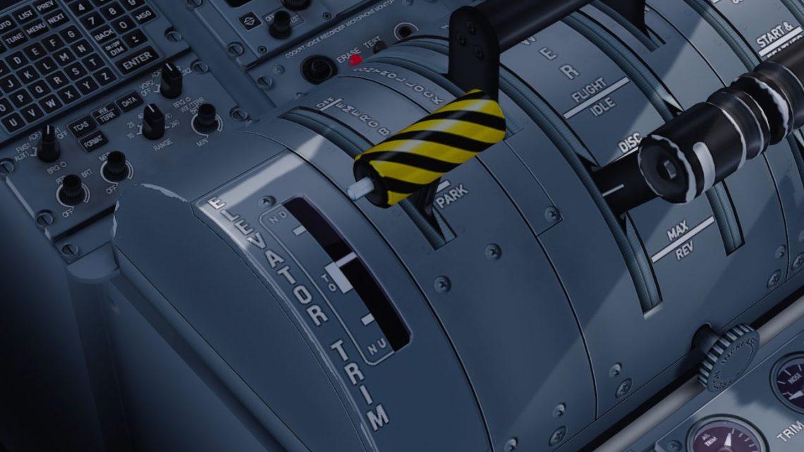Стояночный тормоз на Majestic Dash 8 Q400 через ось