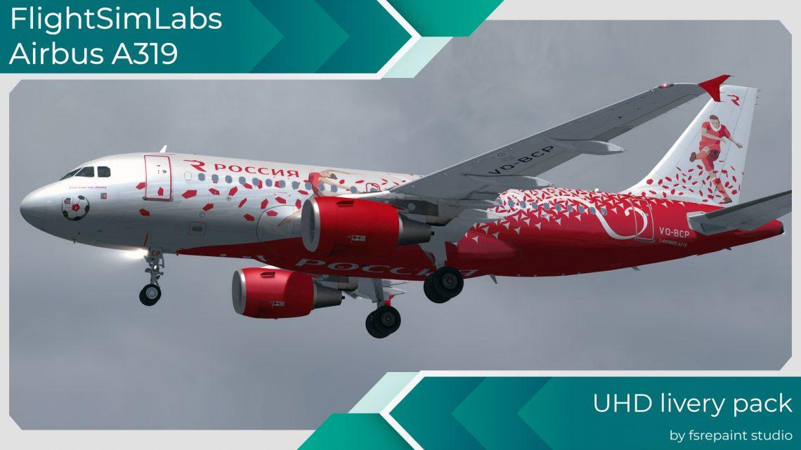 FSREPAINT - FLIGHT SIM LABS AIRBUS A319 LIVERY PACK 1